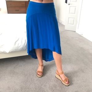 Anthropologie Skirt in Vibrant Blue